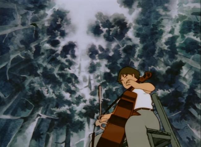 scena tratta da Goshu il violoncellista, Oh! Production, 1982