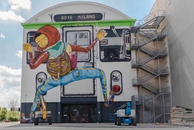 Efemero, Pirelli HangarBicocca, Milano (2016). Courtesy WALLS OF MILANO