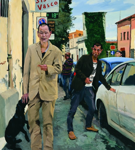 LIU XIAODONG, Chinatown, 2015, olio su tela, 200 x 180 cm, Courtesy the artist and Massimo De Carlo, Milano/London/Hong Kong
