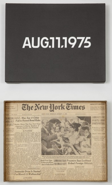 On Kawara, Today Series, Aug.11,1975, Dall'oggi al domani