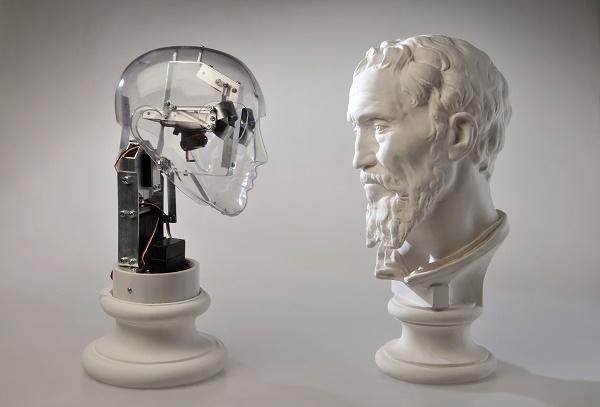 Ale Guzzetti. Affective robots - Daniele da Volterra Michelangelo 2014