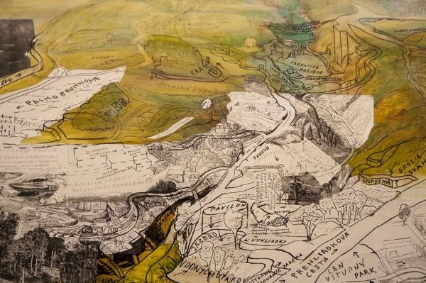 Peter Bartoš, Progetto di Parco Zoologico, Tardianni '60, Tecnicamistasutela, 101 x 200 cm, Courtesy dell'artista e AMT_project, Bratislava/Milano