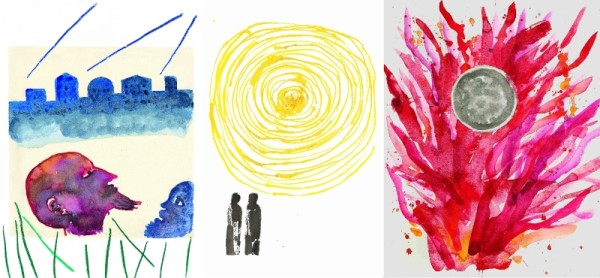 Mimmo Paladino, Tre illustrazioni per il Don Chisciotte (2006), la Divina commedia (2011) e La luna e i falò (2010)