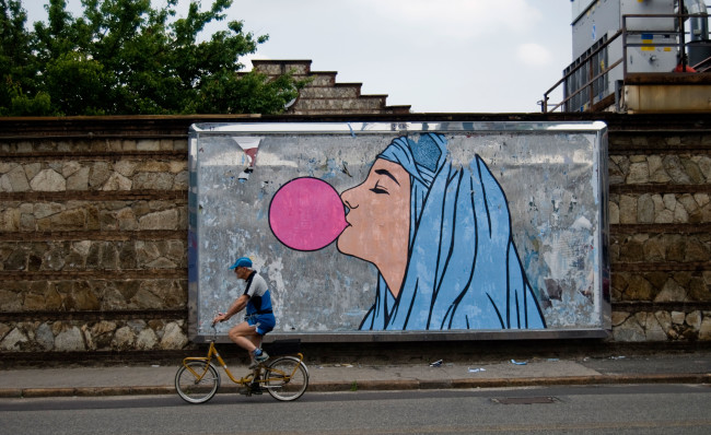 BR1, Welcome big babol, poster on billboard, Torino, 2012, courtesy of the artist