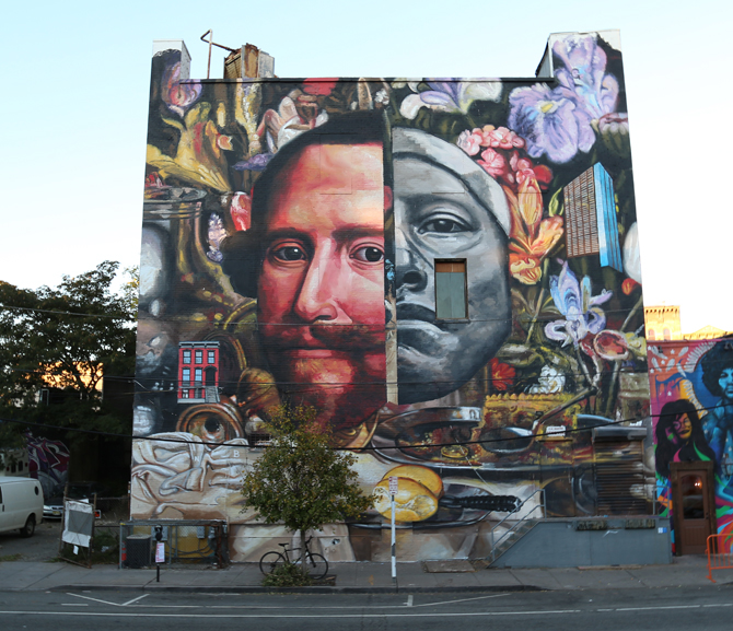 Gaia, Native. Jersey City, NJ, The Jersey City Mural Program 2015