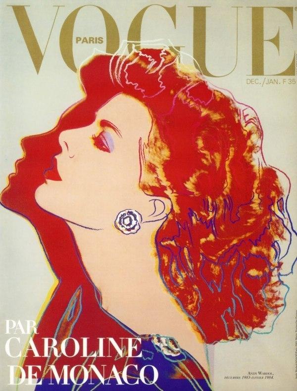 Caroline de Monaco - Andy Warhol, Vogue Paris Décembre 1983