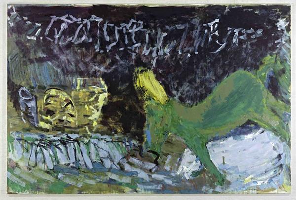 Per Kirkeby, Senza titolo, 2010 tempera su tela, 200 x 300
