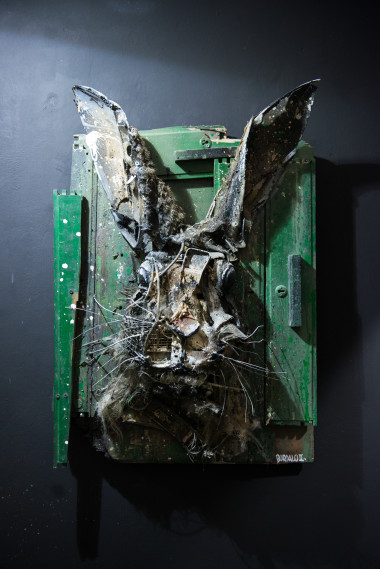 Bordalo II, Rabbit Face, Square23, Torino, ph. Livio Ninni