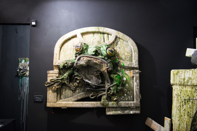 Bordalo II, King Frog, Square23, Torino, ph. Livio Ninni