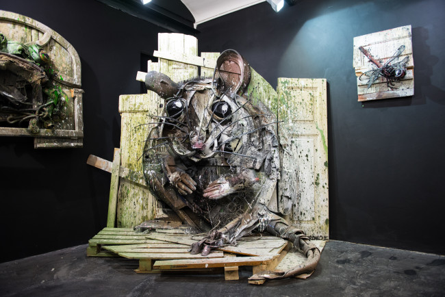 Bordalo II, Sculture Beach Mouse, Square23, Torino, ph. Livio Ninni