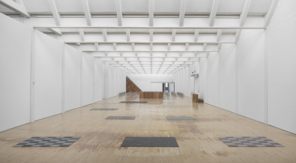 Installation view, Carl Andre: Sculpture as Place,