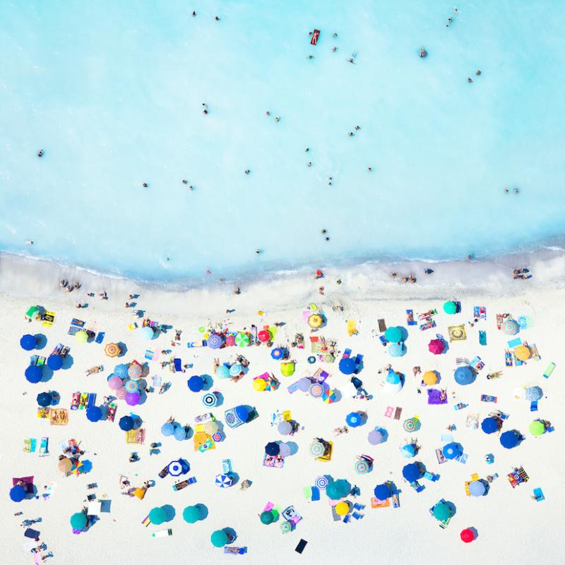 Antoine Rose, Saint-Tropez study 1, 2016. Stampa fotografica diasec, 150 x 150 cm, n° Edizione di 5. Courtesy Mazel Galerie - Brussels