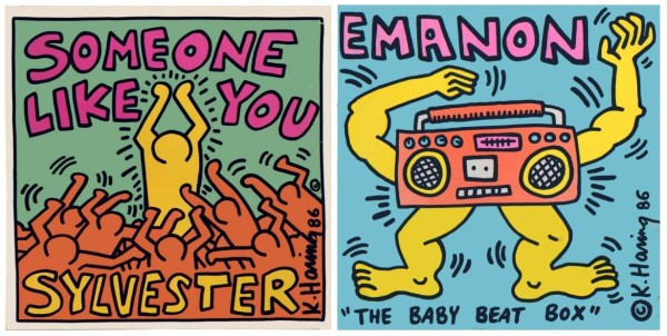 Keith Haring, Sylvester, Someone Like You (Warner Bros. Records, 1986); Emanon, The Baby Beat Box (Pow Wow Records, 1986)
