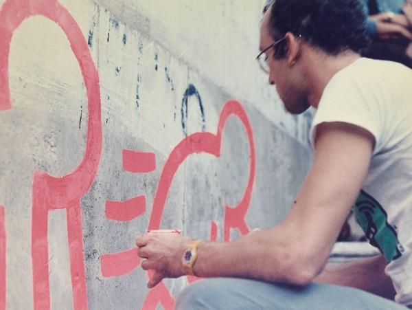 27-Keith Haring Deleted - Roma, Palazzo delle Esposizioni, 11 settembre 1984, foto di Stefano Fontebasso De Martino, courtesy of MACRO - CRDAV