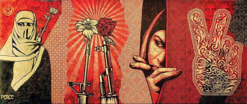 Obey Shepard Fairey, Obey Middle East Mural. Cross the Streets, MACRO, 2017