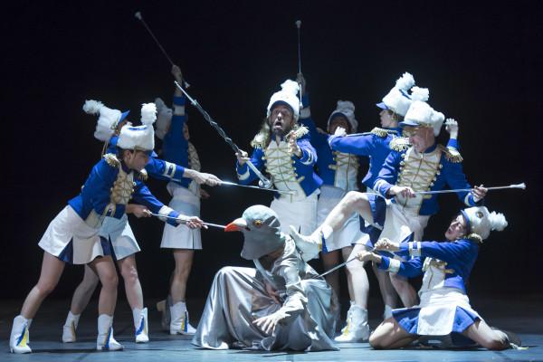 Belgian Rules / Belgium Rules, regia di Jan Fabre per Theatercompany Troubleyn. Foto di Wonge Bergmann, 2017