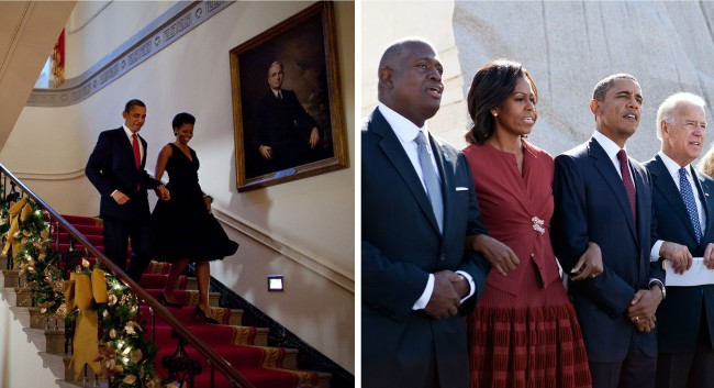 Michelle Obama in Azzedine Alaïa, Wikimedia Commons
