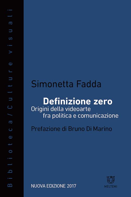 Definizione zero di Simonetta Fadda, copertina del libro, 2017, Meltemi