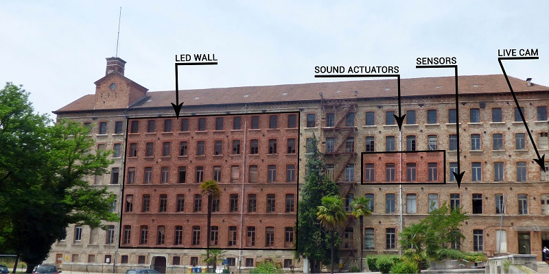 Deus ex fabrica, facciata della Fabbrica Alta di Schio