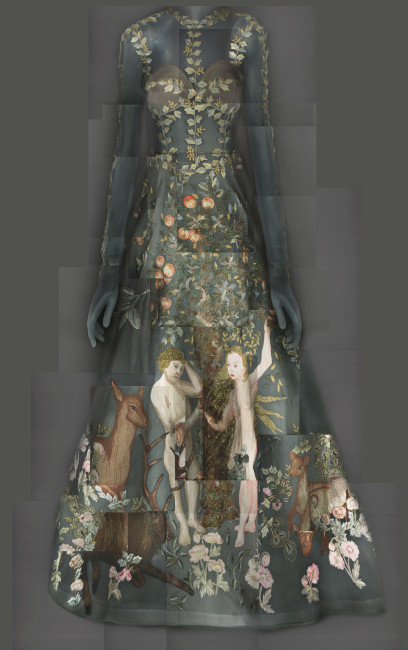EveningDress, Maria Grazia Chiuri and Pierpaolo Piccioli for Valentino, spring/summer 2014 haute couture; Courtesy of Valentino S.p.A. Image courtesy of The MetropolitanMuseum of Art, Digital Composite Scan by Katerina Jebb