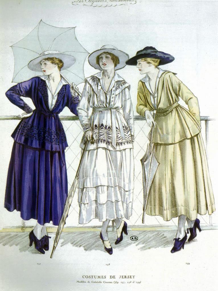 Disegno di Gabrielle Chanel (1917) – WikimediaCommons