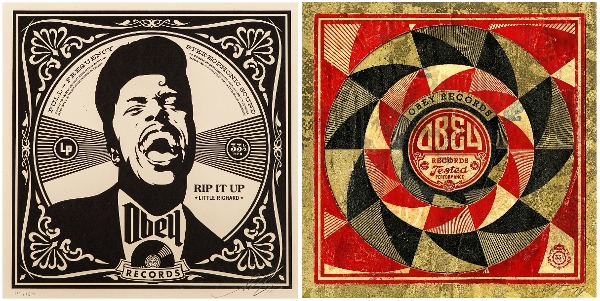 Shepard Fairey, Rip It Up (2008) e Tested Performance, Version I (2014)
