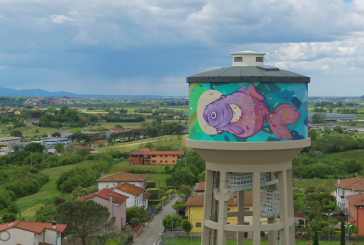 Rainbow: arte urbana ad alta quota