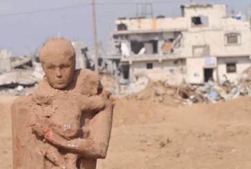Fuga da Gaza, le sculture esauste di Iyad Sabbah