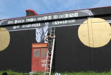 Cheap, street poster art festival: NemO's e Madame Moustache al lavoro