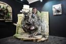 Gli animali-spazzatura di Bordalo II a Torino