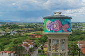 Rainbow: arte urbana ad alta quota